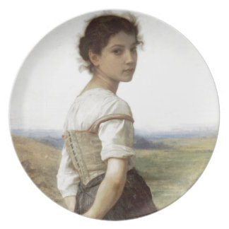 The Young Shepherdess - The Young Girl Melamine Plate