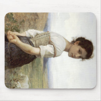 The Young Shepherdess - The Young Girl Mouse Pad