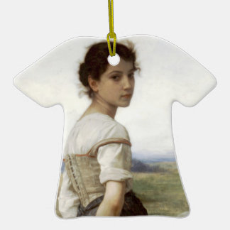 The Young Shepherdess - The Young Girl Double-Sided T-Shirt Ceramic Christmas Ornament