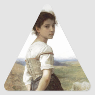 The Young Shepherdess - The Young Girl Triangle Stickers