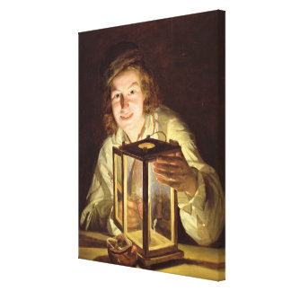 The Young Stableboy with a Stable Lamp, 1824 Canvas Print