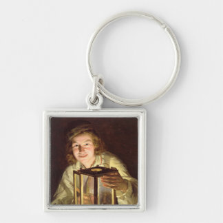 The Young Stableboy with a Stable Lamp, 1824 Keychain