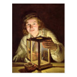 The Young Stableboy with a Stable Lamp, 1824 Postcard