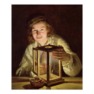 The Young Stableboy with a Stable Lamp, 1824 Poster