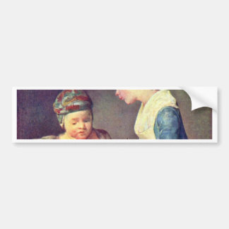 The Young Teacher By Chardin Jean-Baptiste Siméon Bumper Stickers