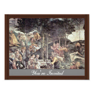 The Youth Of Moses By Botticelli Sandro Invitation