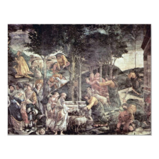 The Youth Of Moses By Botticelli Sandro Announcement