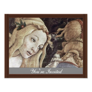The Youth Of Moses, Detail By Botticelli Sandro Personalized Invite