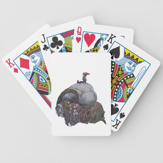 The Yule Goat Bicycle Playing Cards