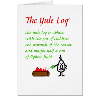 The Yule Log Card