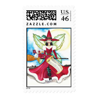 The Yuletide Fairy Postage Stamp