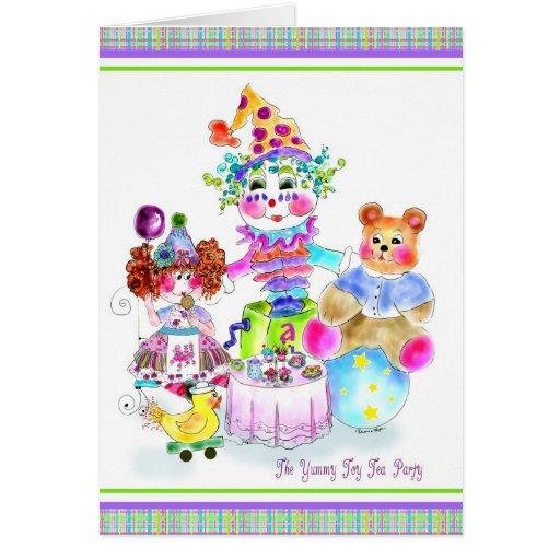 The Yummy Toy Tea Party Birthday Card
