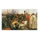 The Zaporozhian Cossacks by Ilya Yefimovich Repin Poster