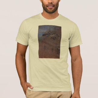 The Zattere, harmony in blue and brown by Whistler T-Shirt