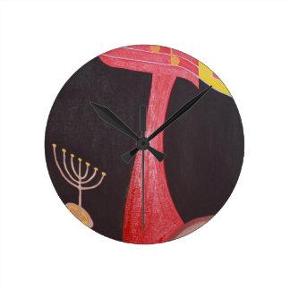 The Zayn Letter - hebrew alphabet Round Wall Clock