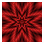 The Zazzle Perfect Poster Fuzzy Star in Red