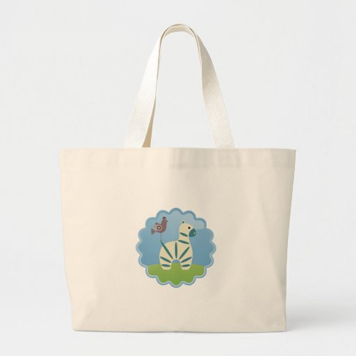 The Zebra and the Bird Tote Bags