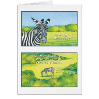 The Zebra Greeting Card Psalm 139:14
