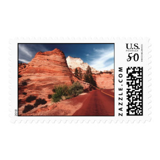 The Zion National Park Postage Stamp