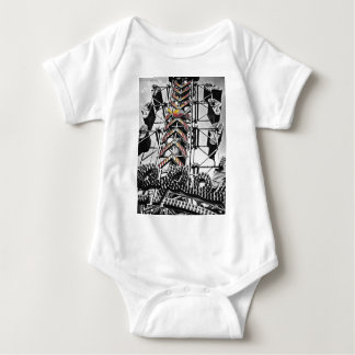 The zipper baby bodysuit
