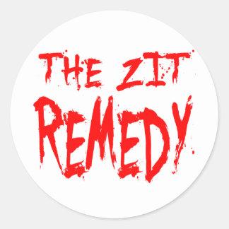 The Zit Remedy Classic Round Sticker