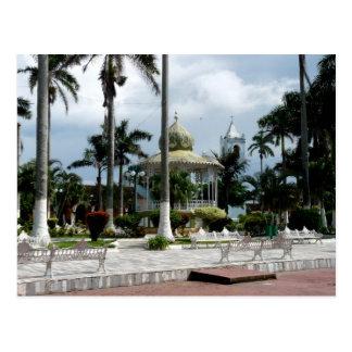 The Zocalo in Tlacotalpan, Veracruz Mexico Postcard