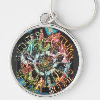 The Zodiac Silver-Colored Round Keychain