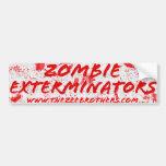 The Zombie Exterminators White Bloody Sticker Car Bumper Sticker