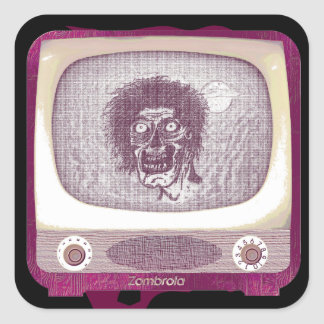 the Zombie! On TV~ 2 Square Sticker
