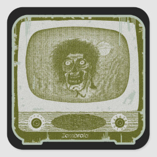 the Zombie! On TV~Green Square Sticker
