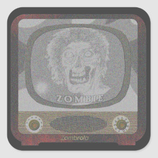 the Zombie! On TV~ Square Sticker