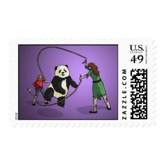 The Zombie-Panda Jump Rope Team, Postage Stamp