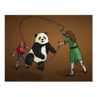 The Zombie-Panda Jump Rope Team, Postcard