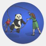 The Zombie-Panda Jump Rope Team, Round Stickers