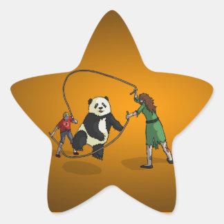 The Zombie-Panda Jump Rope Team, Star Sticker