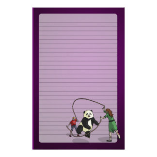 The Zombie-Panda Jump Rope Team, Customized Stationery