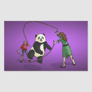 The Zombie-Panda Jump Rope Team, Stickers