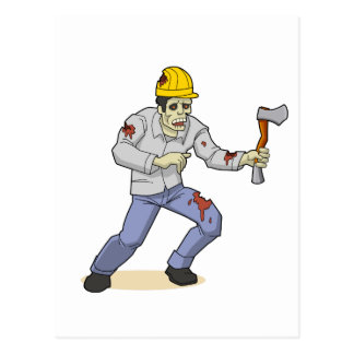 The Zombie Worker Postcard