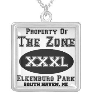 The Zone South Haven, Michigan Silver Plated Necklace