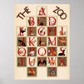 The Zoo Alphabet Poster