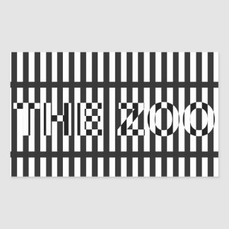 The Zoo Bar Rectangular Sticker