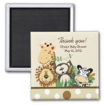 The Zoo Crew Jungle Baby Shower Favor - TAN Magnet