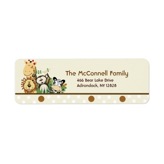 The Zoo Crew Tan PRINTABLE ADDRESS LABELS