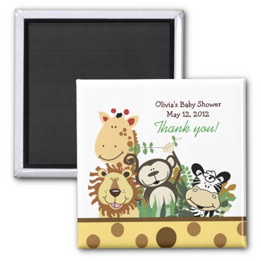 THE ZOO CREW (YELLOW) Favor Magnet