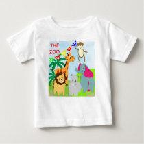 The Zoo Cute Animal Theme Baby T-Shirt