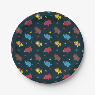 The Zoo Paper Plate