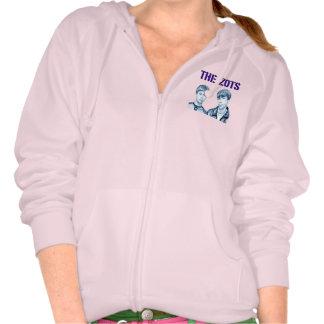 The Zots Women's Pink Fleece Zipped Hoodie