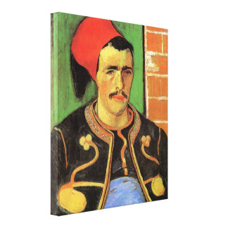 The Zouave Half Length by Vincent van Gogh Stretched Canvas Print