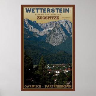 The Zugspitze above Garmisch-Partenkirchen Poster