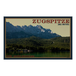 The Zugspitze over the Eibsee Poster